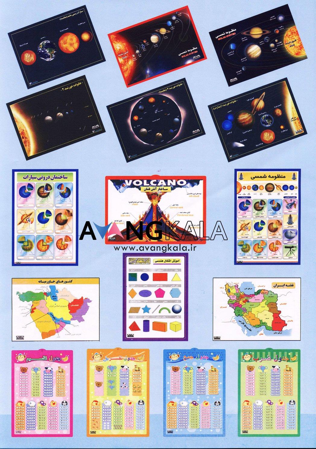 پوستر آموزشی و کمک آموزشی مدارس